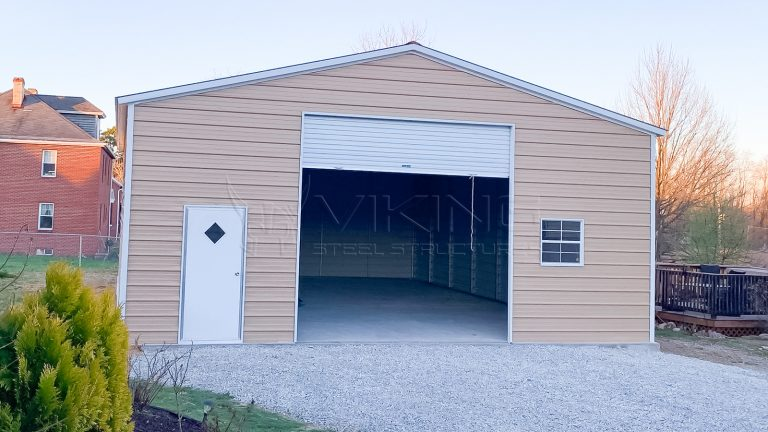 30x40x12 Enclosed Metal Garage