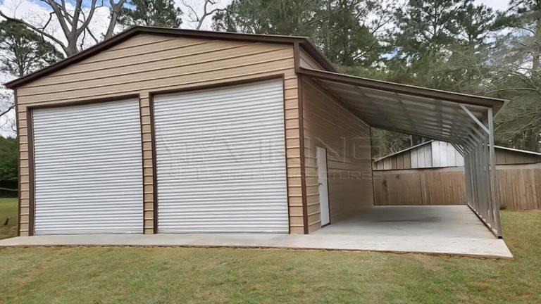 28x60x14 Utility Metal Garage