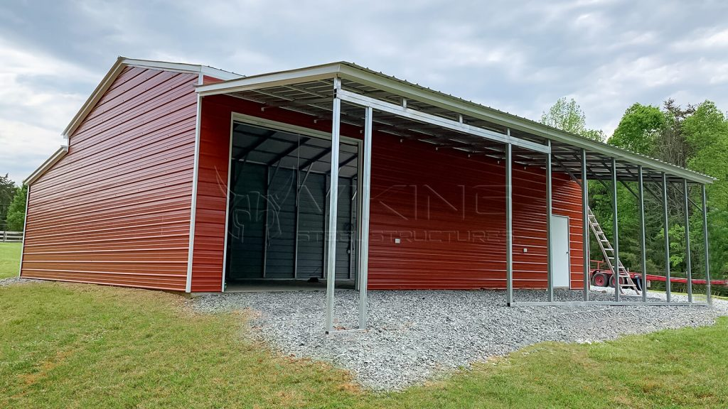 48x44x12 Raised Center Aisle Barn