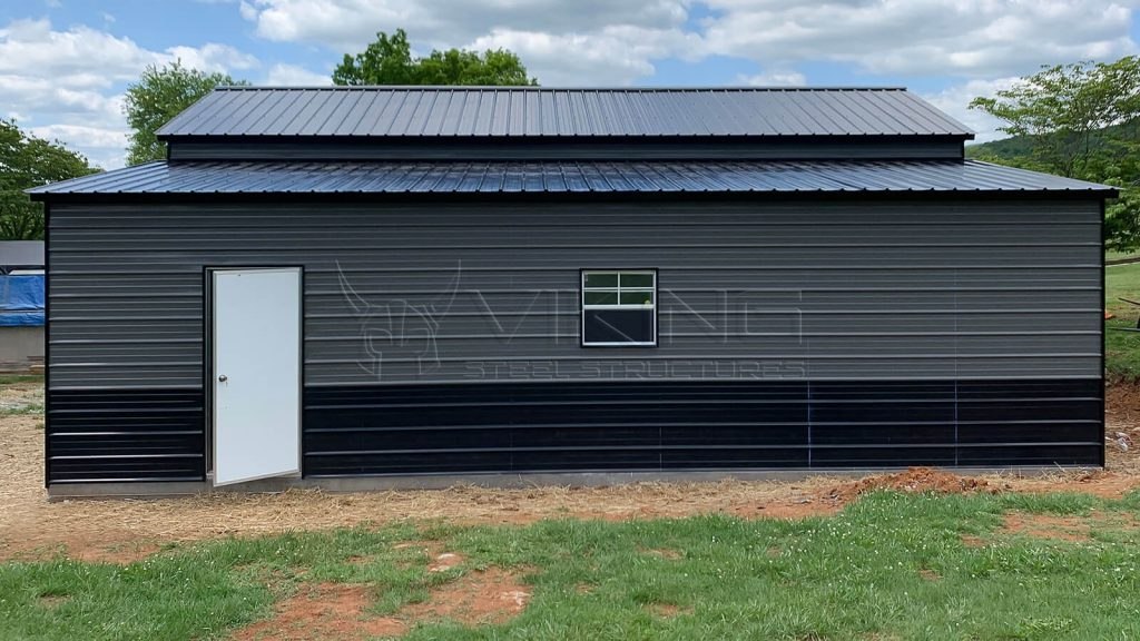 42x35x12 Two Tone Carolina Metal Barn