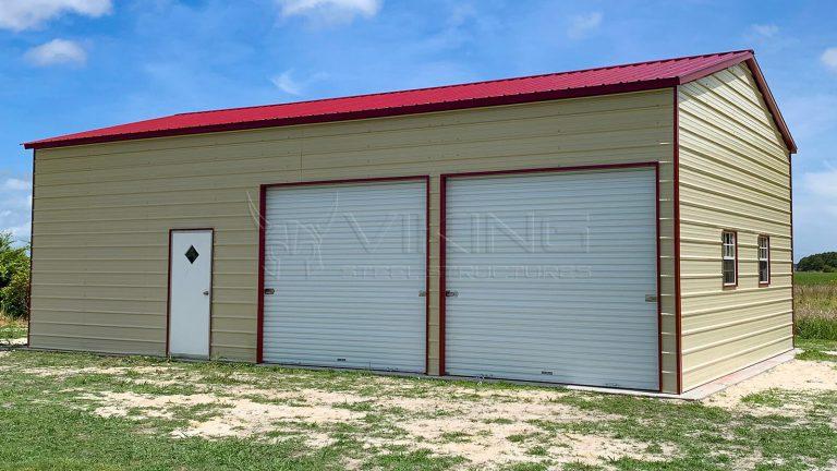 24x40x12 Side Entry Metal Garage