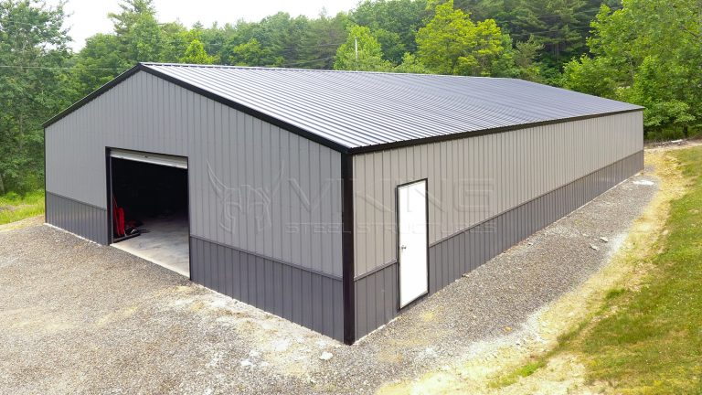 40x72x10 Two Tone Clear Span Metal Building