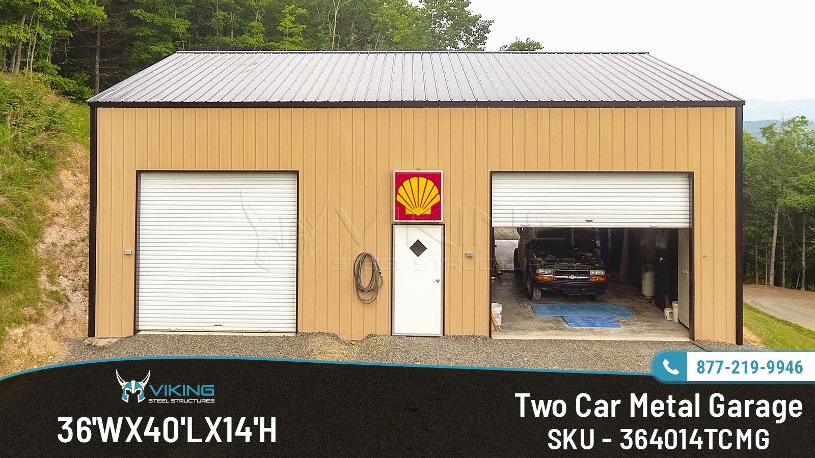 36X40X14-two-car-metal-garage