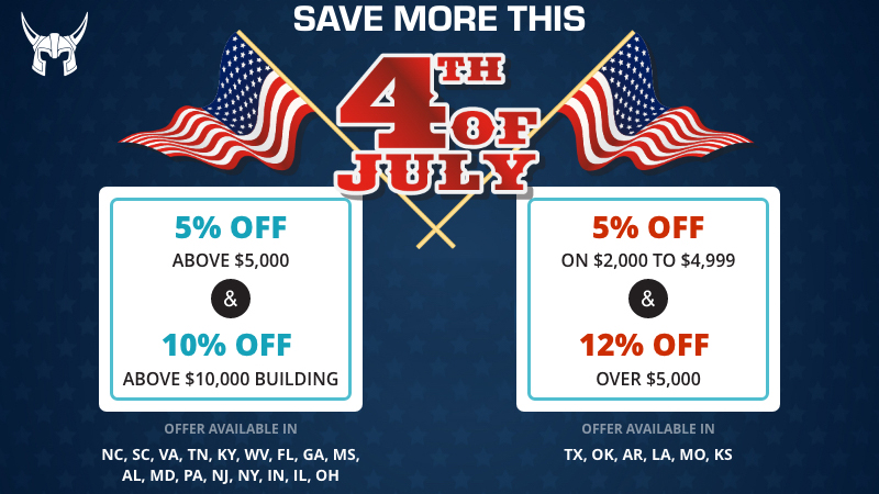 viking steel structures 4th July metal building sale