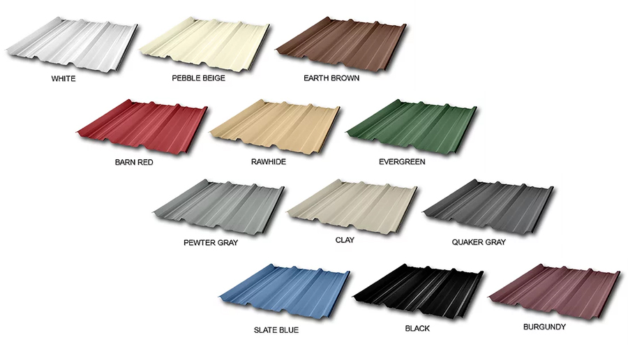 EB Carports Color Options