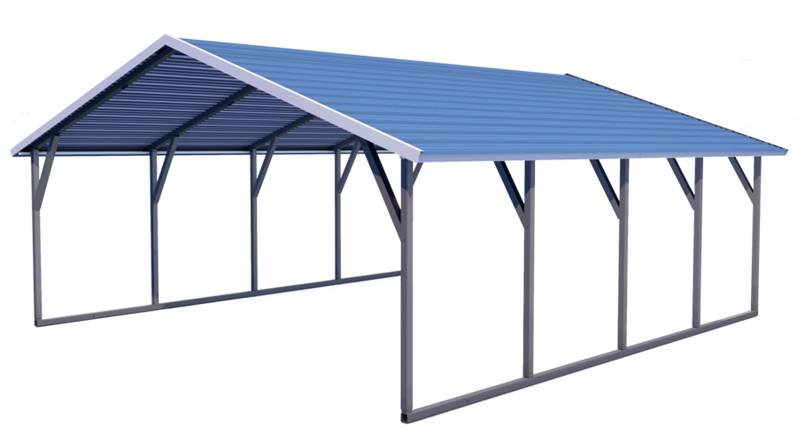 Midwest Steel Carports a Frame Horizontal Roof