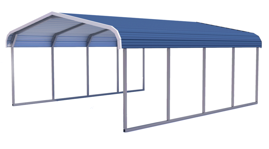 Midwest Steel Carports Standard Roof
