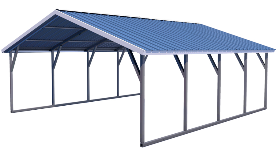 Midwest Steel Carports Vertical Roof