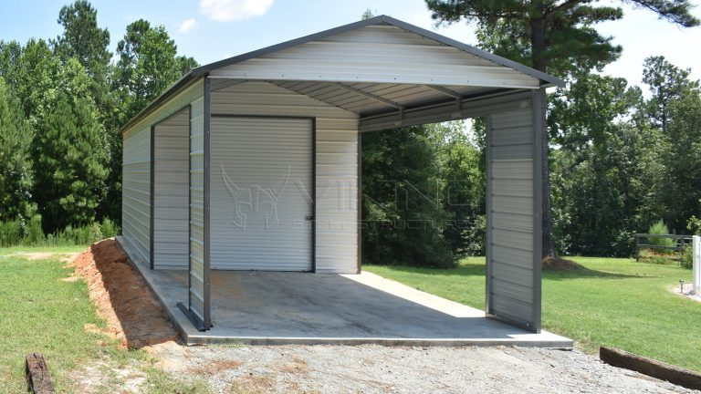 18x35x10 Metal Garage with Carport