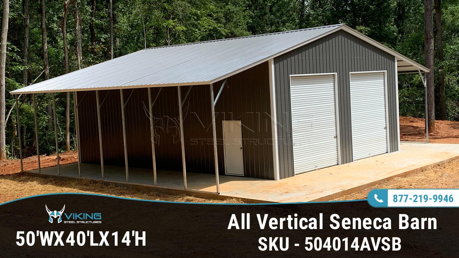 50'x40'x14' All Vertical Seneca Barn