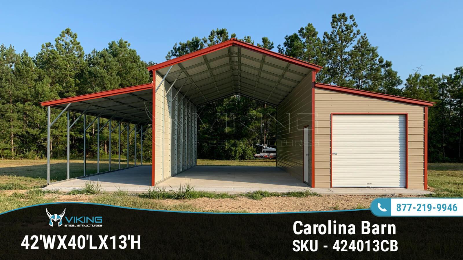 42'x40'x13' Carolina Barn