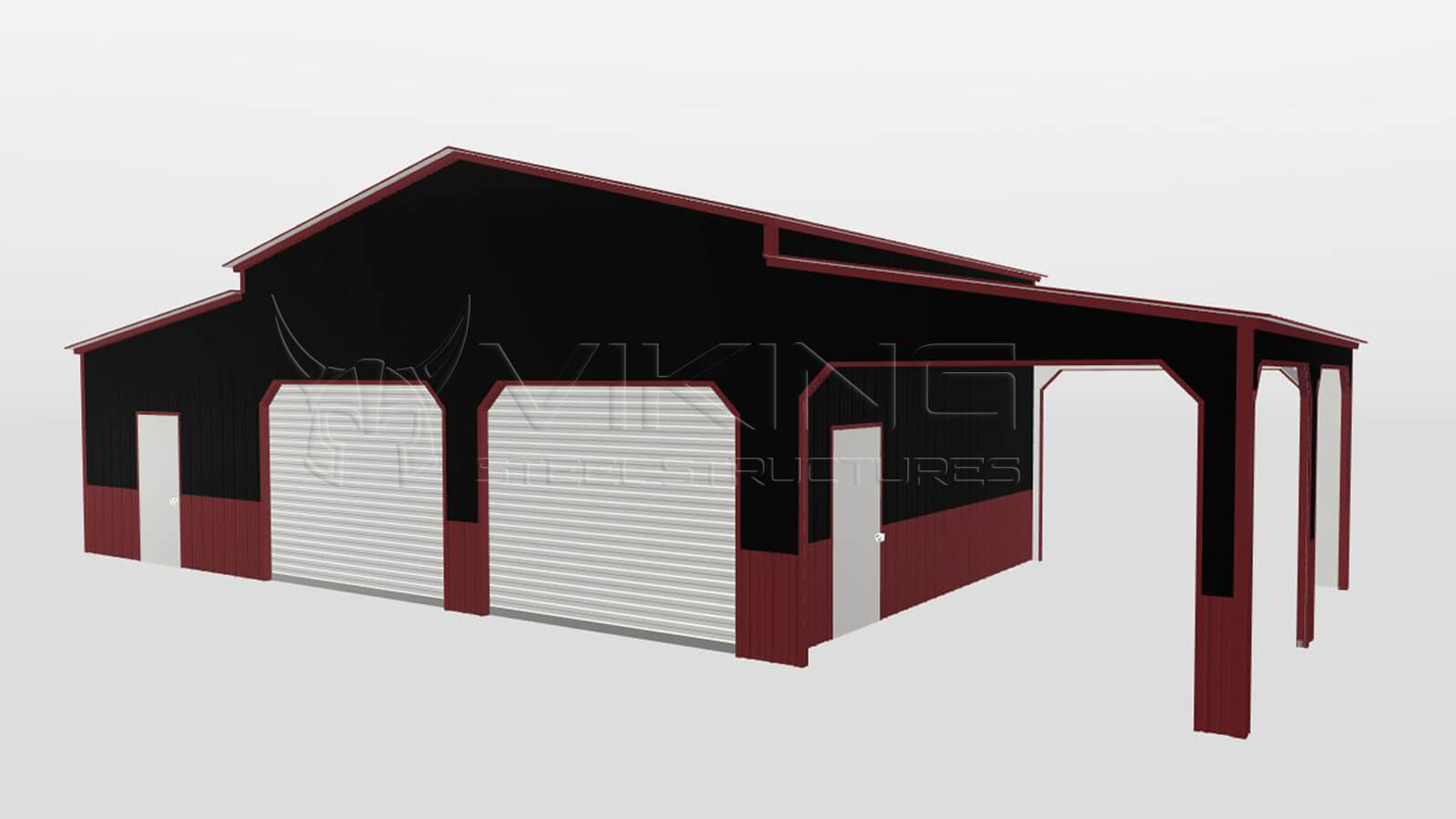 48'x20'x12' All Vertical Deluxe Style Carolina Barn 3D Estimator