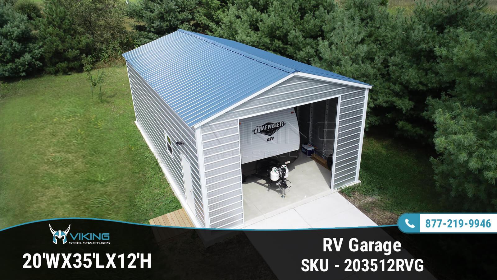 20'x35'x12' RV Garage