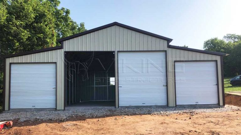 40x25x12 All Vertical Metal Barn
