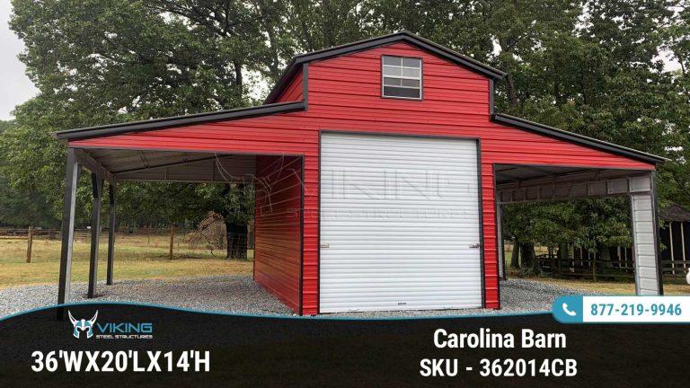 36'x20'x14′ Carolina Barn