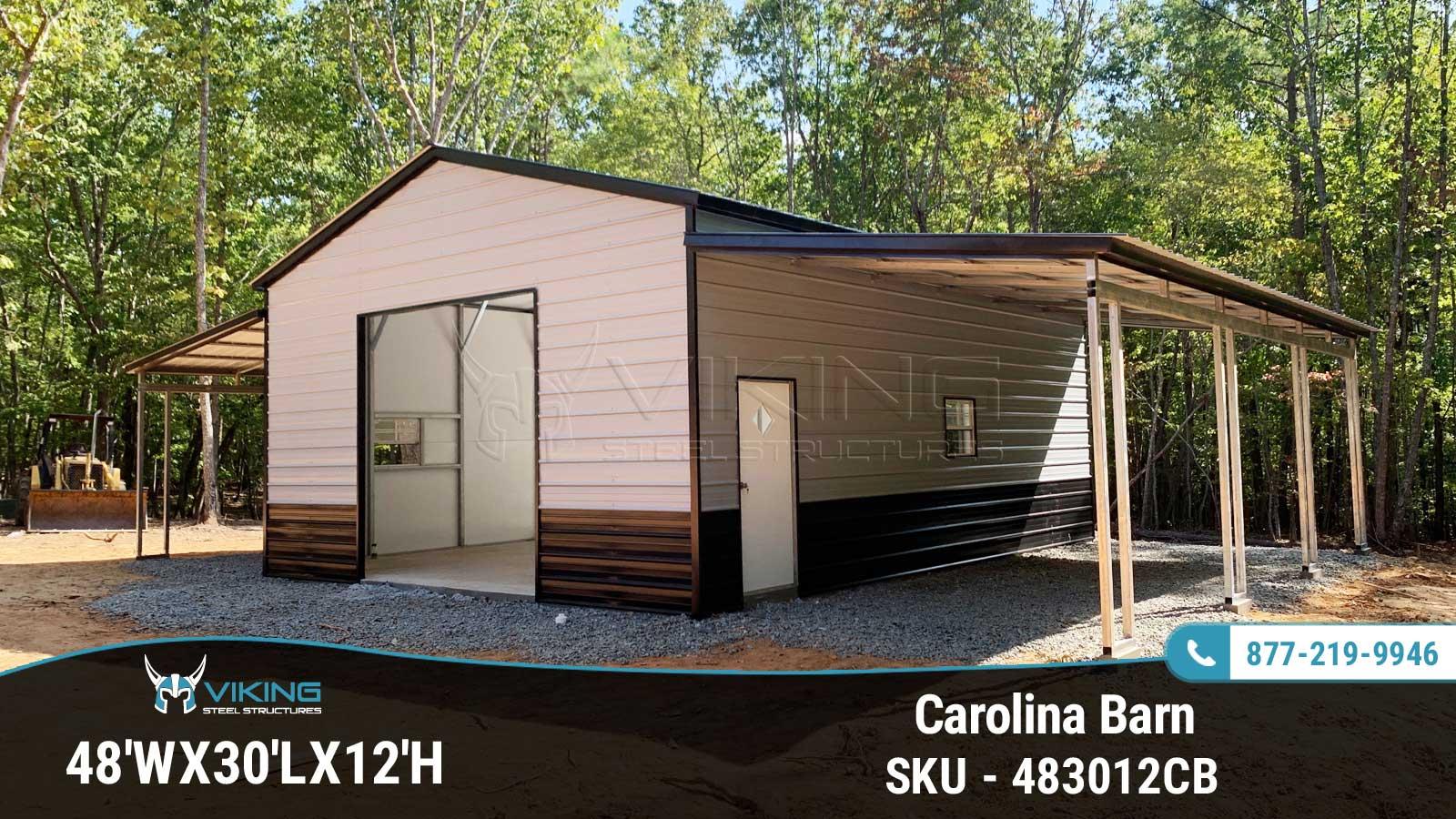 48'Wx30'Lx12'H Carolina Barn