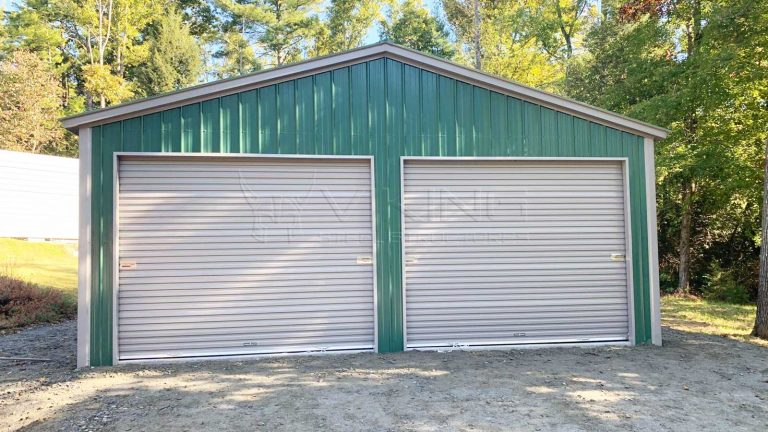 24x40x9 All Vertical Metal Garage