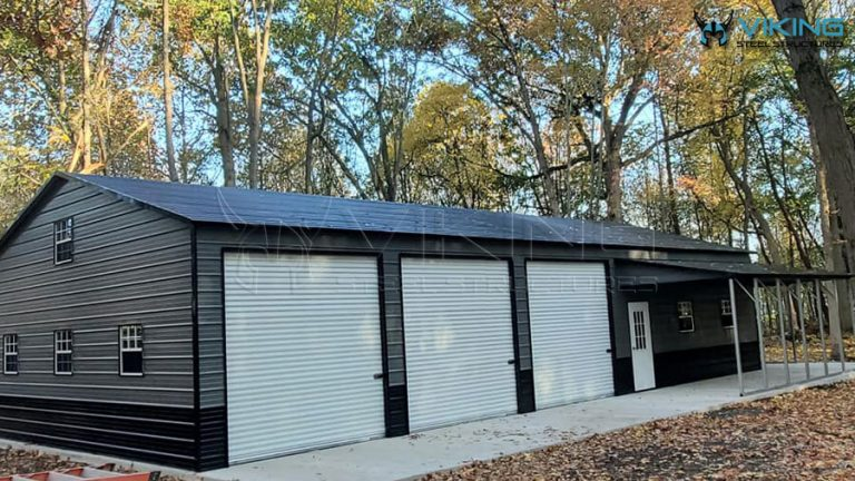 30'x71'x12′ Commercial Building with Lean-To