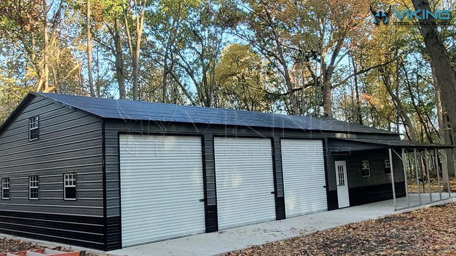 30'x71'x12' Commercial Building with Lean To