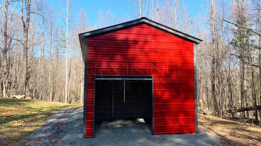 18x30 Vertical Roof Style Metal Building