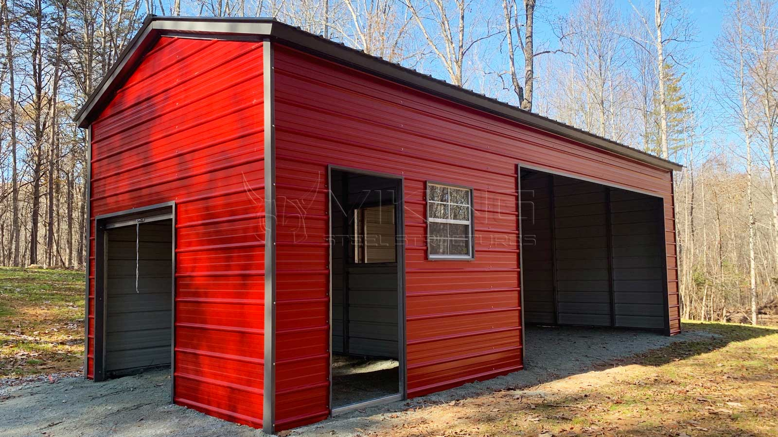 18'x30' Vertical Roof Style Metal Building