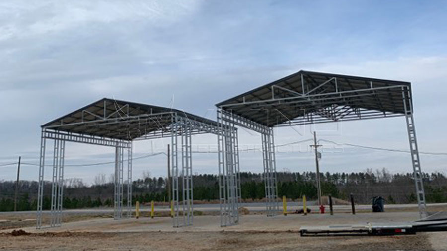 32x32x20 Vertical Metal Carport