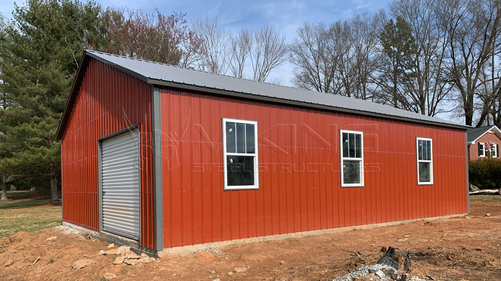 30'x40'x10' All Vertical Metal Garage