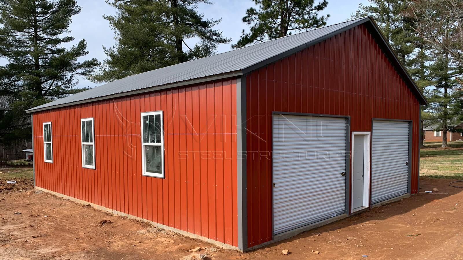 30 X40 X10 All Vertical Modular Garage 30x40 All Vertical Metal Garage