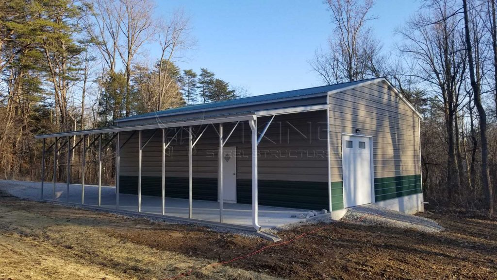30x40x12 Fully Enclosed Metal Garage Building