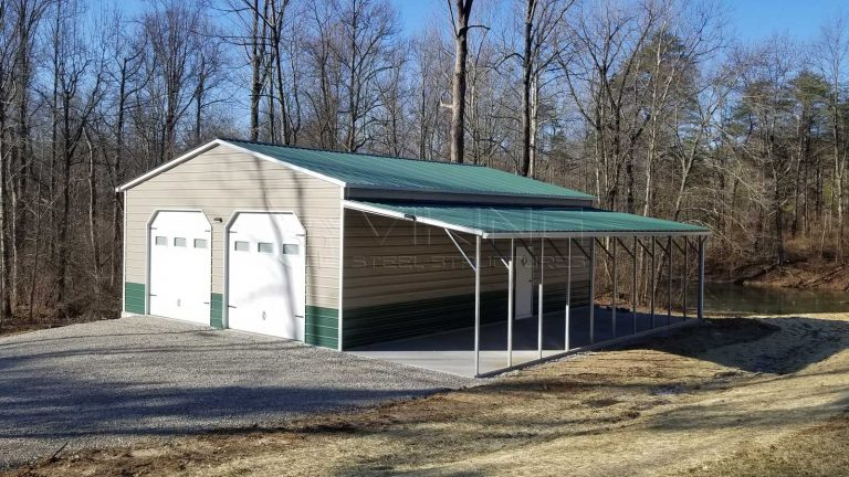 30x40x12 Fully Enclosed Metal Garage Building