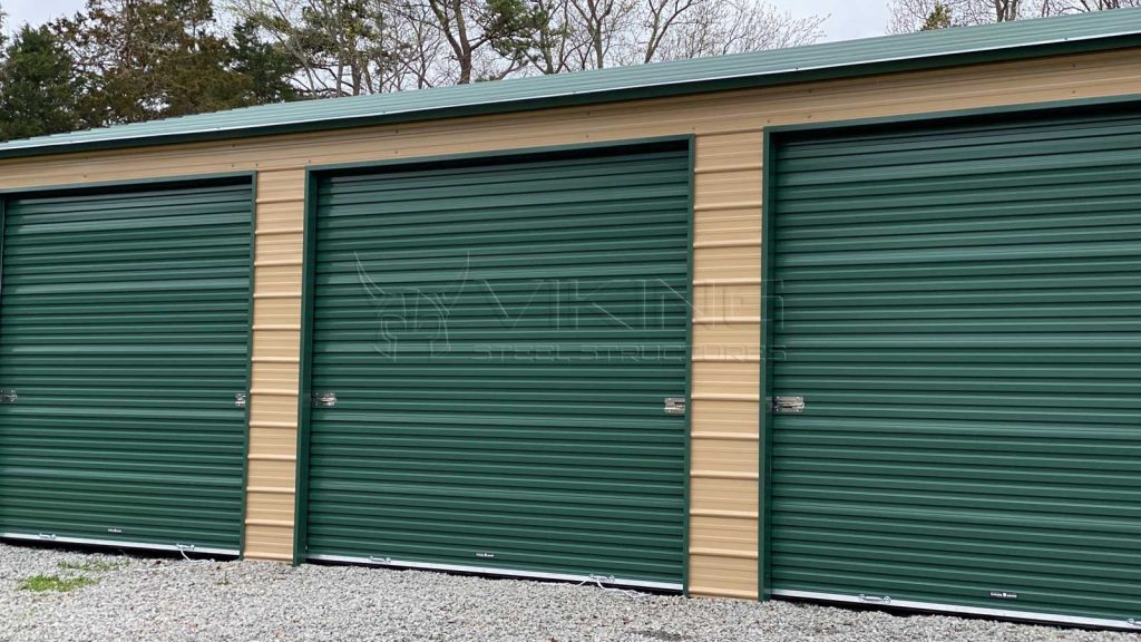 26x36 Fully Enclosed Metal Garage