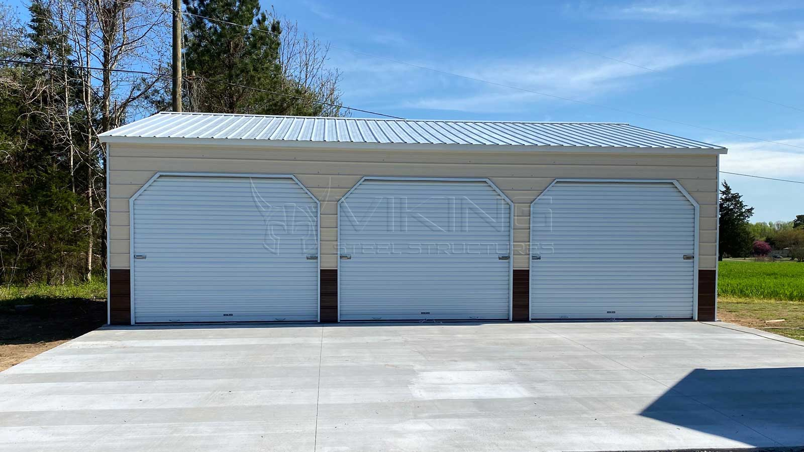 24' x 35' x 9' Vertical Style Metal Building Front View