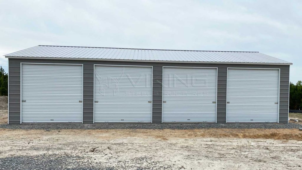 26x40 Four Car Side Entry Metal Garage