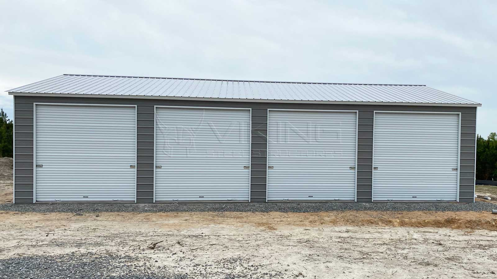 26'x40' Four Car Metal Garage
