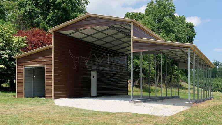 38x40x14 Metal Horse Barn