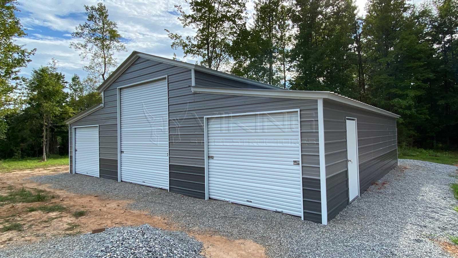 42x40x12 8 Two Tone Metal Carolina Barn For Sale