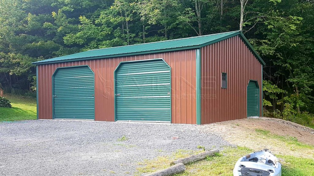 24x30x9 All Vertical Metal Garage