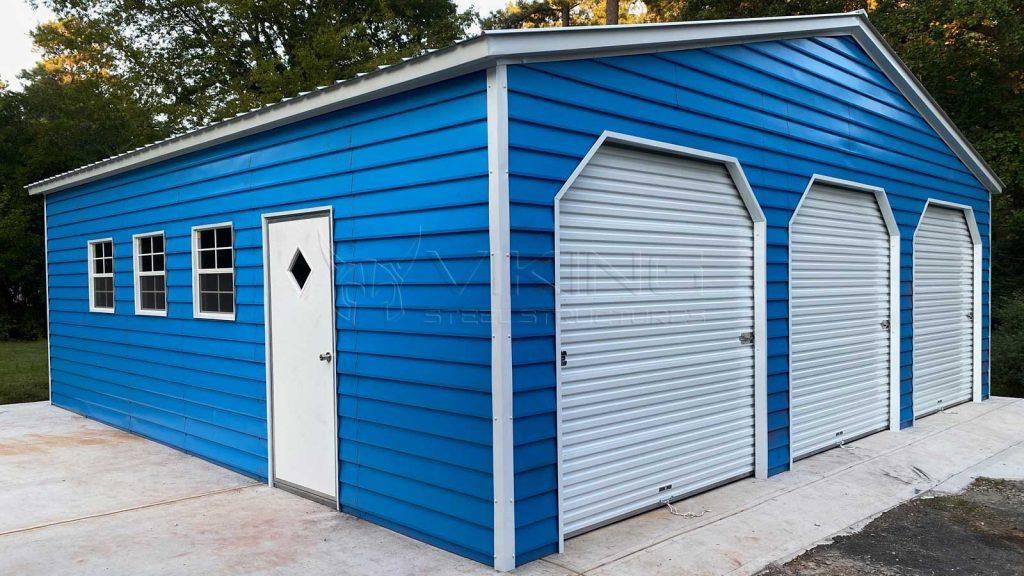 30x30x9 Vertical Roof Metal Garage