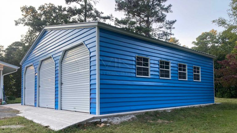 30x30x9 Vertical Roof Metal Garage