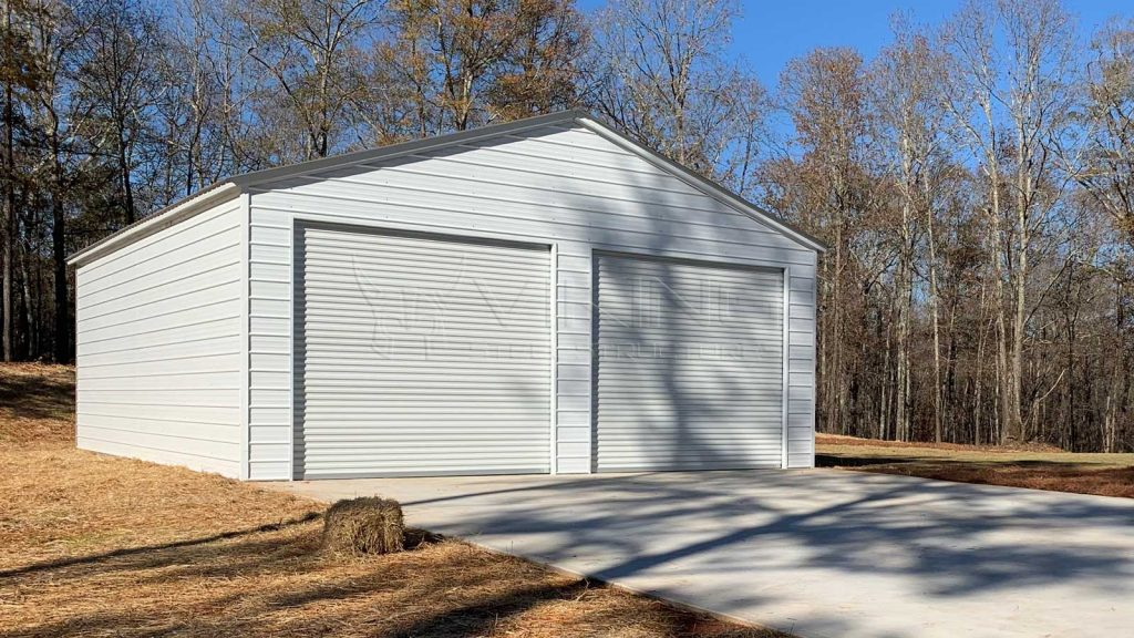 30x41x12 Metal Garage with Lean To