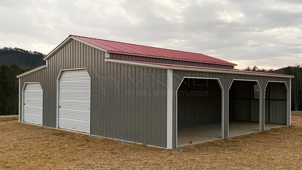 30x31x12 All Vertical Metal Barn