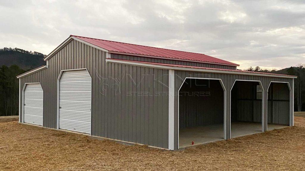 30x31x12 All Vertical Metal Barn