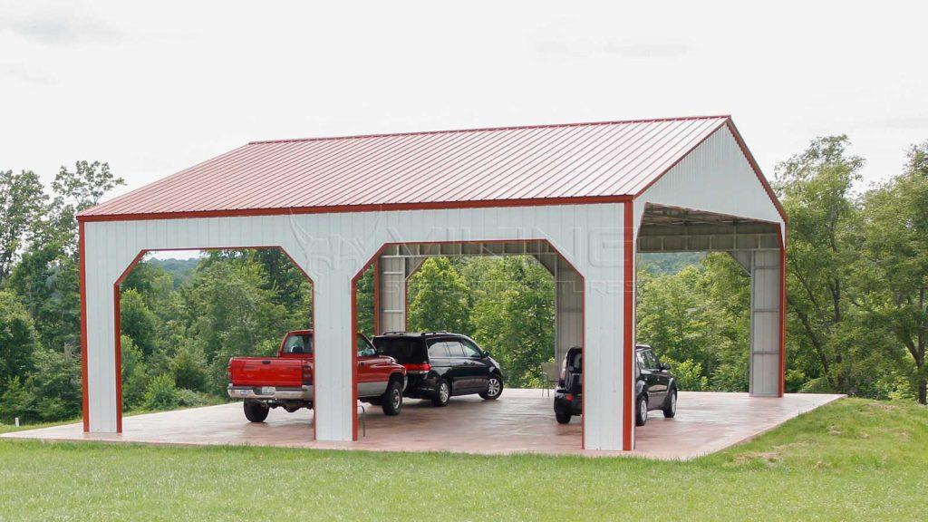 50x36x14 All Vertical Metal Carport