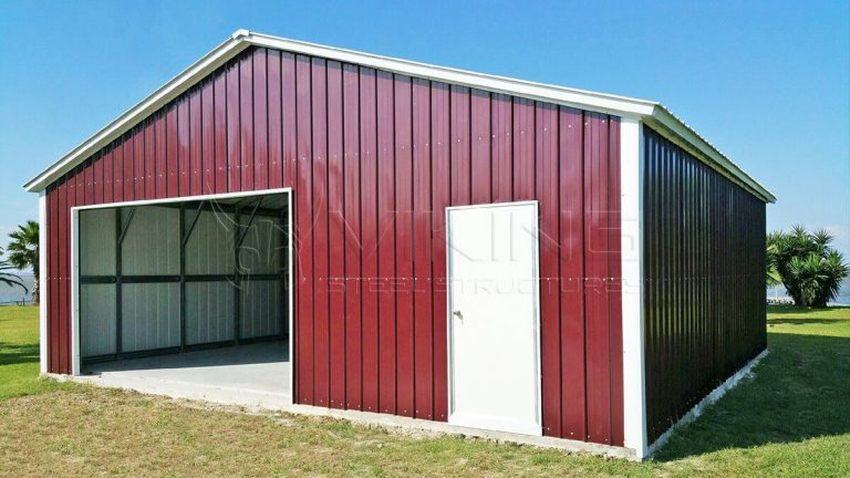 30x30x8 Fully Enclosed Vertical Garage