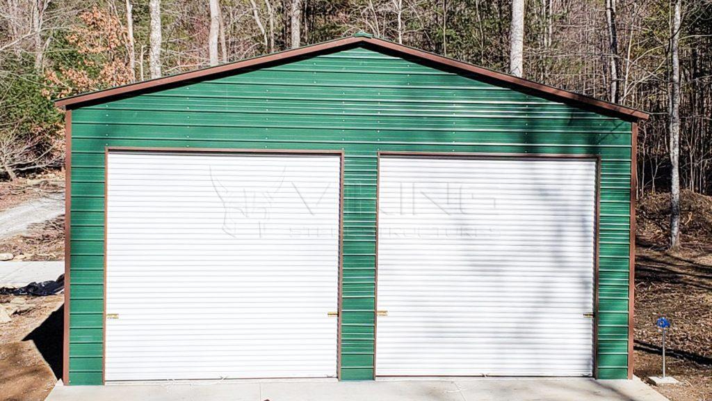 30x35x14 Fully Enclosed Metal Garage