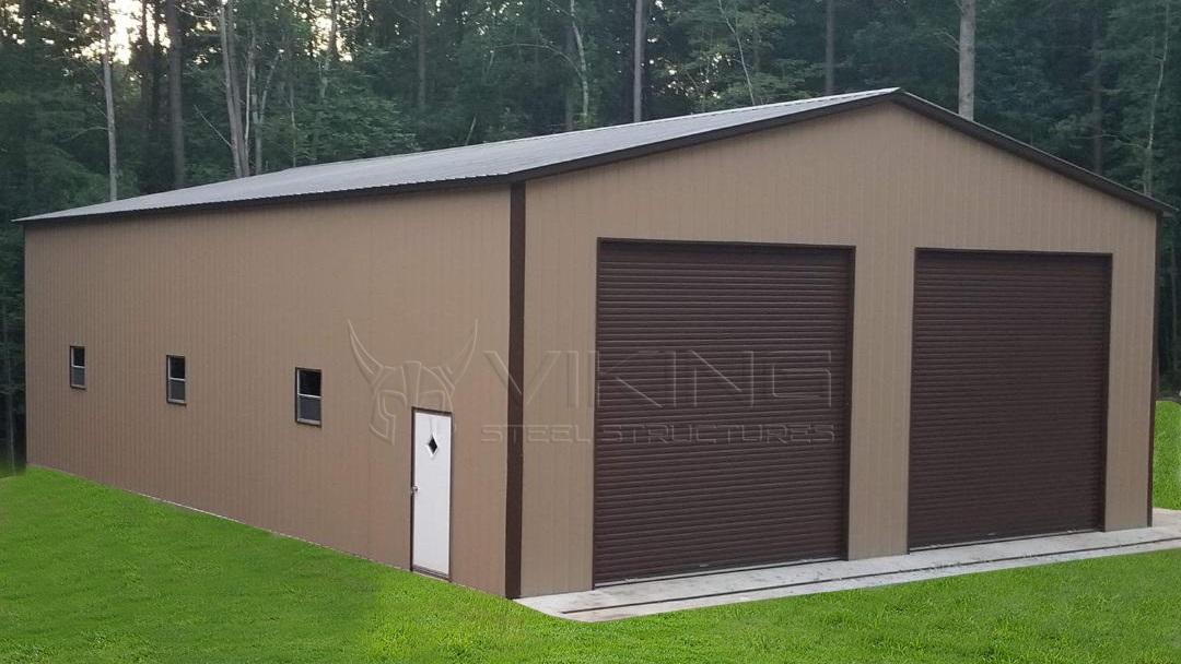 30x40x14-enclosed-garage-workshop-side