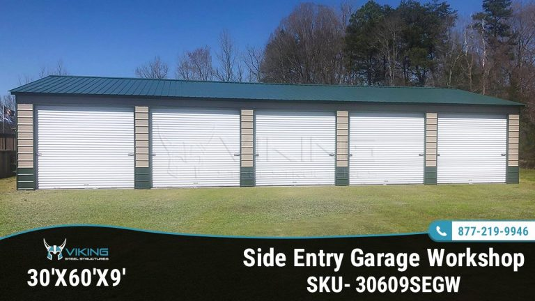 30x60x9 Side Entry Garage Workshop