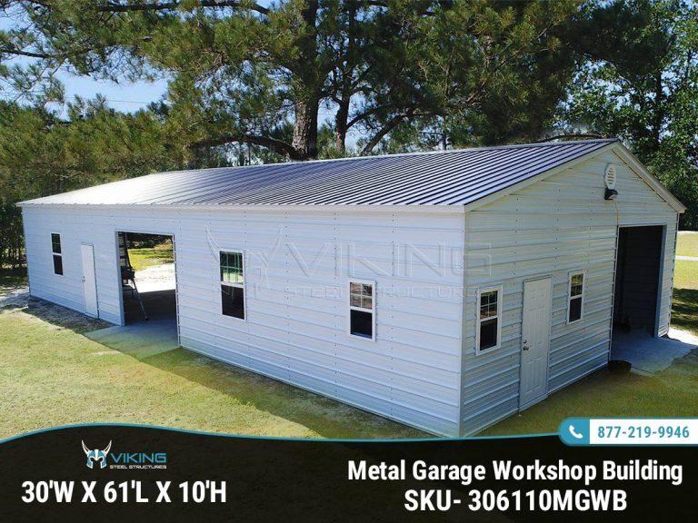 30x61x10 Metal Garage Workshop
