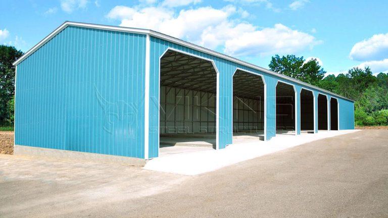 30x80x14 All Vertical Workshop Building