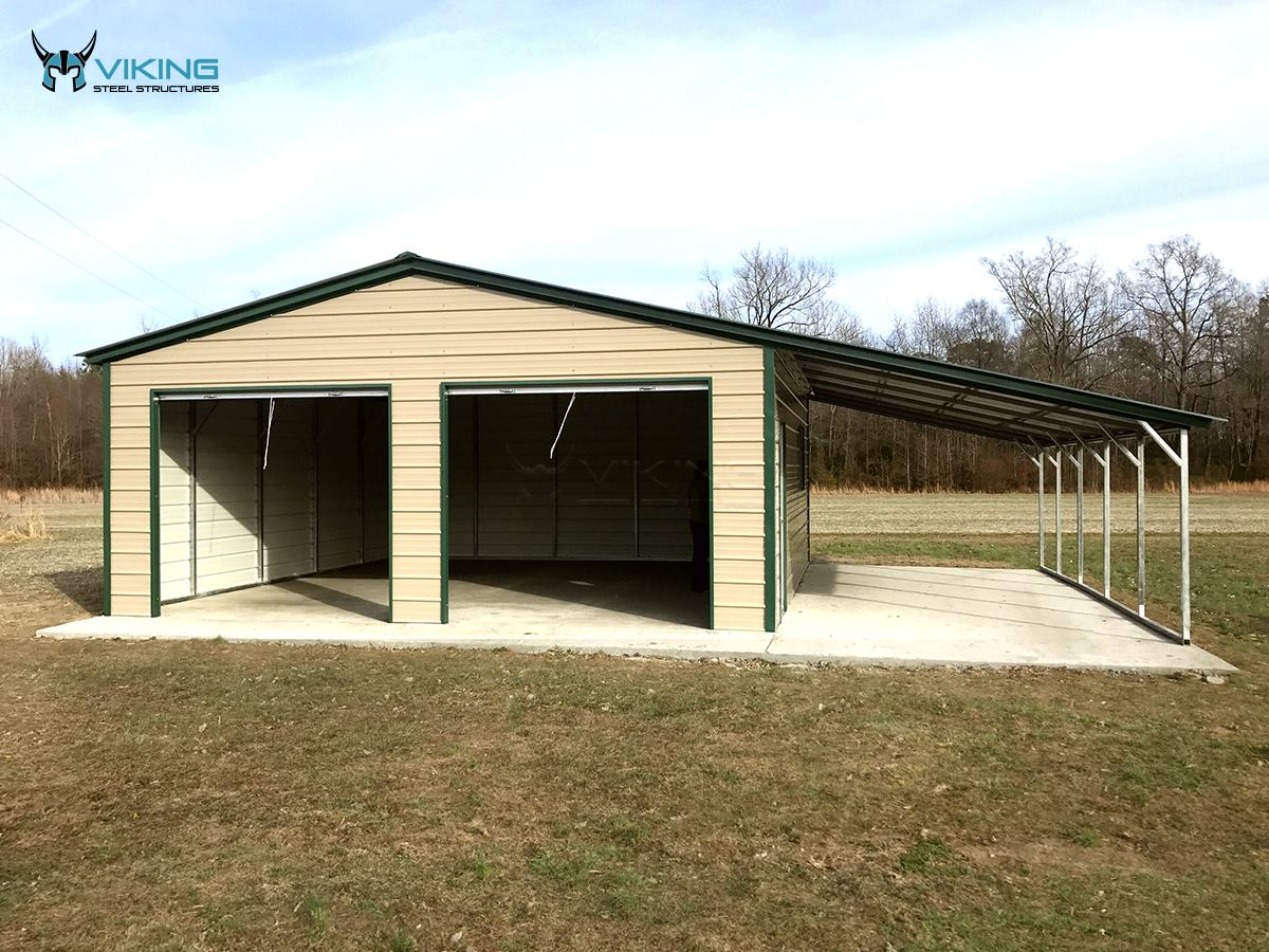36x25x9-metal-garage-with-lean-to